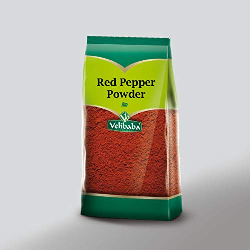 Velibaba Essential Herb & Spices-Condimento de primera calidad-100% natural (500 gr / 17,6 oz) (Pimentón rojo en polvo)