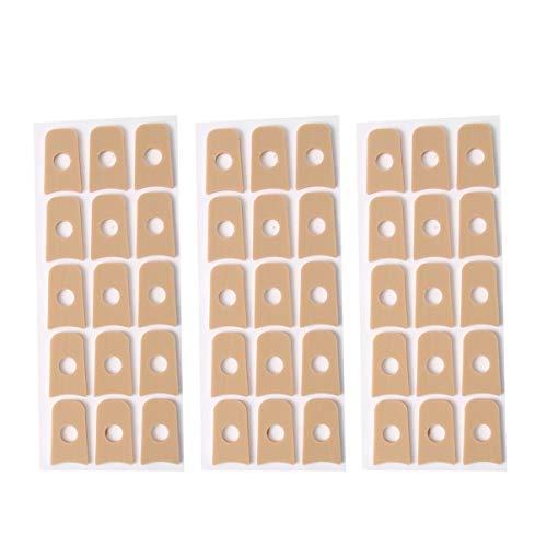 Healifty 45Pcs Self Adhesive Callus Cushions U Shaped Cushion Soft Foam Corn Pads Waterproof Toe and Foot Protectors