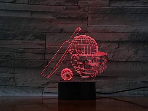 LED 3D luz nocturna interruptor táctil remoto Buffalo colorida lámpara de mesa de billar USB 3D ilusión animal bebé lámpara de mesa para dormir