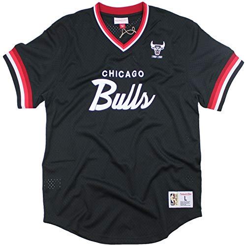 M&N Special Script Mesh Chicago Bulls NBA Trikot schwarz T-Shirt Größe L bis XXL