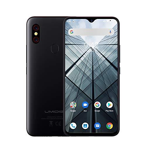 UMIDIGI F1 SIMフリースマートフォン Android 9.0 5150mAh 大容量バッテリー 18W高速充電 6.3インチ FHD+ 大画面 128GB ROM + 4GB RAM Helio P60オクタコア 16MP+8MPデュアルリアカメラ 技適認証済み 顔&指紋認証 auキャリア不可