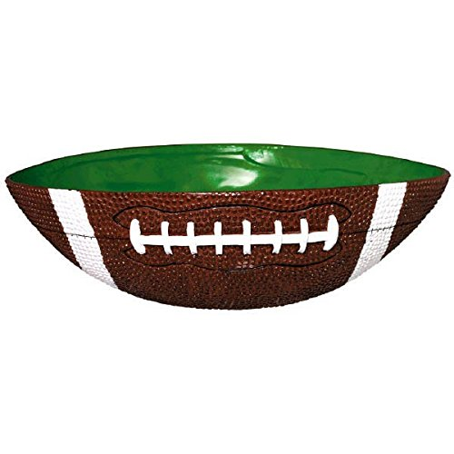 """Football Frenzy Birthday Party Large Bowl Tableware, 1 Pieces, Made from Plastic, 12 1/2"""" x 10"""" by Amscan"""