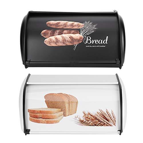 Yuehuam Brotbehälter Behälter Große Kapazität Edelstahl Brotkasten Kekse Brote Gebäck Aufbewahrungsorganisator für Küchentheke