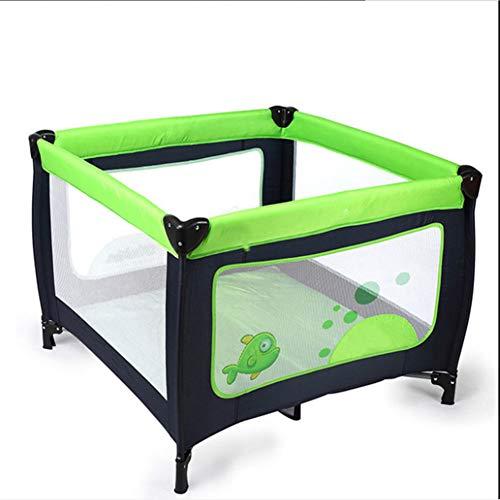 Mr.LQ Baby tragbare Spielbett Kinderbett Multifunktions Kinderspielbett Falten tragbare Outdoor-Babybett,Green,100x100x74.5cm