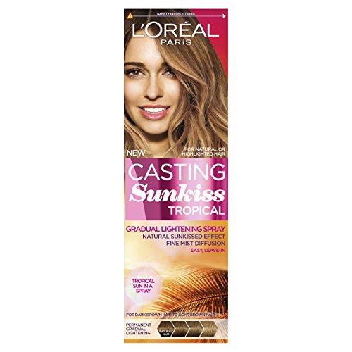 Spray de aclarado gradual, cabello marrón oscuro de Casting Sunkiss