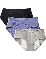 Teens Cotton Menstrual Period Panties Girls Heavy Flow Leak Proof Hipster Underwear Women Postpartum Briefs 3 Pack