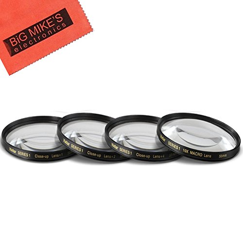 58mm Close-Up Filter Set (+1, 2, 4 and +10 Diopters) Magnificatoin Kit for Fujifilm X-T2, X-T3, X-T10, X-T20 Mirrorless Digital Camera with 18-55mm F2.8-4.0 R LM OIS Lens