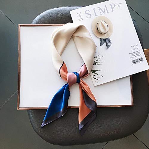 MMSWDT Señoras Color Bufanda Pequeña De Color Salvaje Ropa Profesional Accesorios Bufanda Chal Sun-Royal Blue