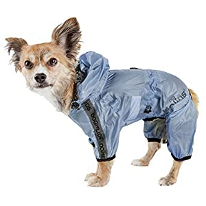 Dog Helios 'Torrential Shield' Waterproof Multi-Adjustable Full Bodied Pet Dog Windbreaker Raincoat