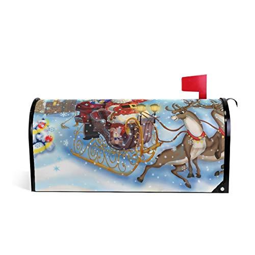 funnyy Witzige Briefkasten-Abdeckung, Motiv: Rentier, Schneemann, magnetisch, Standardgröße, 5,8 x 45,7 cm