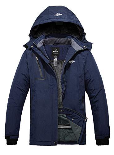 Wantdo Women's Winter Snowboard Coat Waterproof Ski Jacket Blending Navy Medium