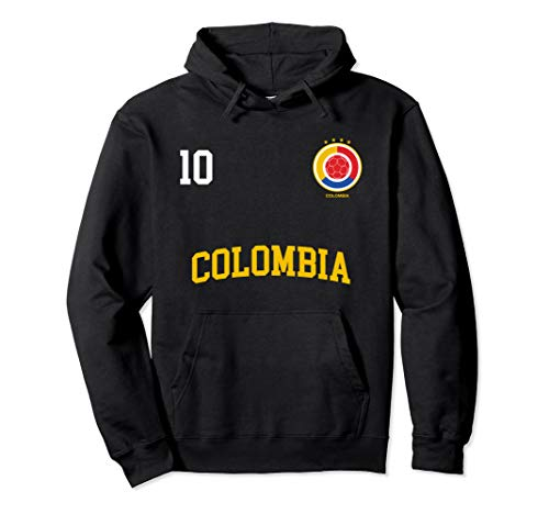 Colombia Soccer Hoodie No. 10 Colombian Flag Camiseta Futbol