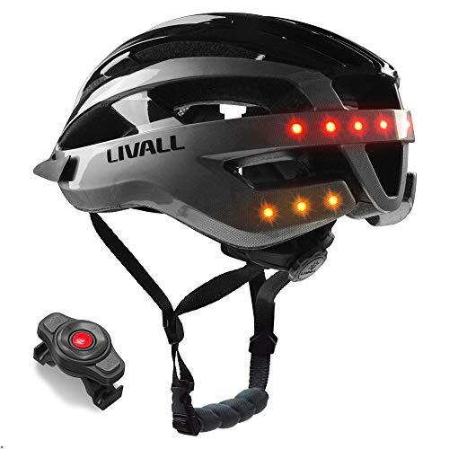 LIVALL Unisex– Erwachsene MT1 Musik, Rücklicht, Blinker, Navigation, Anruffunktion und SOS-System Fahrradhelm, schwarz/anthrazit, L (58-62 cm)