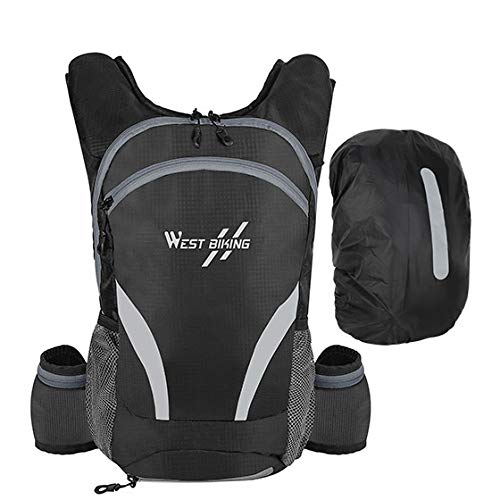GEDE Bicycle Bag Portable Waterproof Sport Backpack 10L Outdoor Hiking Climbing Pouch Cycling Bicycle Backpack,15L Grey-Rain Cover