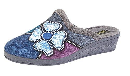 Sleepers Zapatillas de estar Por casa Modelo Kimberly Para Mujer (41 EU/Gris)