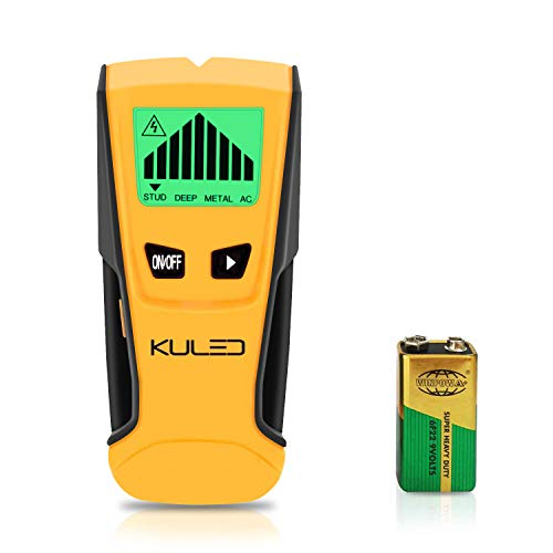 Stud Finder 3 in 1 MultiFunction Wall Stud Sensor Detector with LCD Display and Sound Warning for AC Live Wire Wood Metal Deep Scanning Kuled M79