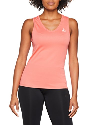 Odlo Damen SUW TOP V-Neck Singlet Active F-Dry Light Unterhemd, Dubarry, XS