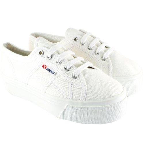 Superga 2790 Scarpe da tennis in tela da donna, basse, bianco (White), 36.5