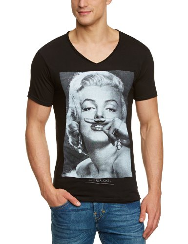 Eleven Paris Herren T-Shirt, All over Druck Marylin M EP1530, Gr. 50 (L), Schwarz (M06 BLACK)