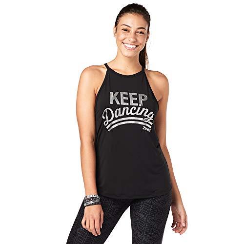 Zumba Ärmelloses, lockeres Trägershirt mit atmungsaktiven Trainingsriemen für Damen Mittel schwarz BB