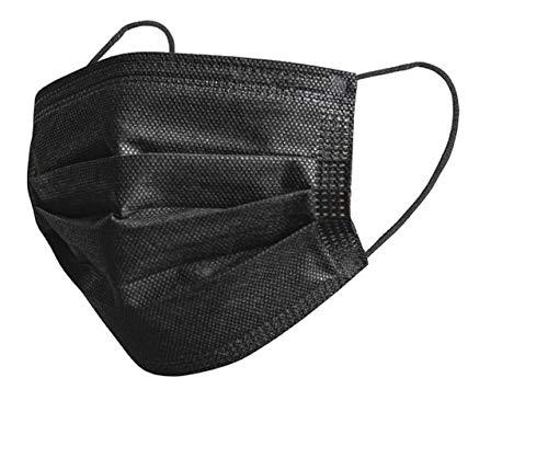 12 x Mundschutz Masken schwarz B - WARE Einweg Mund Nase Gesicht 3 lagig Community Hygiene Behelfsmaske (10)