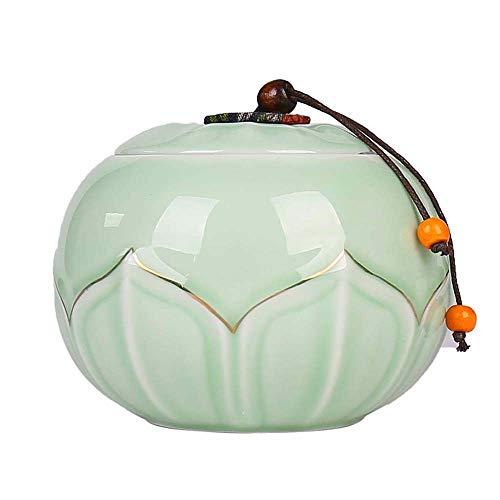 Tanque de Almacenamiento Sellado Portátil Tarro de cerámica frasco de almacenamiento de alimentos, antiguo elegante del contador de cocina del frasco de café Galletas de azúcar Harina bolsitas de té,