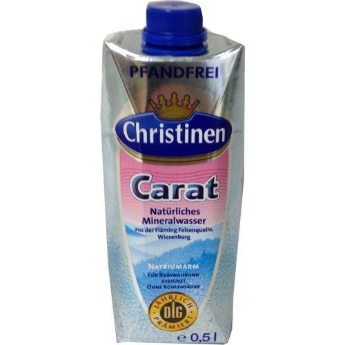 Christinen Mineralwasser Carat (kohlensäurefrei) 0,5 Liter, pfandfrei