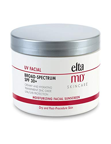 EltaMD UV Facial Moisturizing Sunscreen Broad-Spectrum SPF 30+ with Hyaluronic Acid, Non-Greasy, Mineral-Based Face Sunscreen with Zinc Oxide, 4 oz