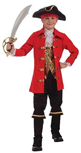 Forum Novelties Deluxe Designer Collection Captain Cutlass Costume, Child Large