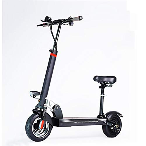 SOAR Patinetes para Niños E-Scooter Plegable for Adultos, 500W del Motor, Velocidad 3 Modos de hasta 18 kmh, neumáticos Delantero y Trasero 7cm amortiguadora de Golpes, Asiento Desmontable