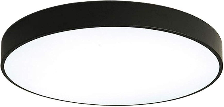CHENYX Led deckenleuchte 36 Watt Schlafzimmer Lampe Studie Wohnzimmer Lampe Balkon Flur Beleuchtung (schwarz)