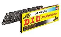 D.I.D(大同工業)バイク用チェーン クリップジョイント付属 420DS-124RB STEEL(スチール) 強化チェーン 二輪 オートバイ用