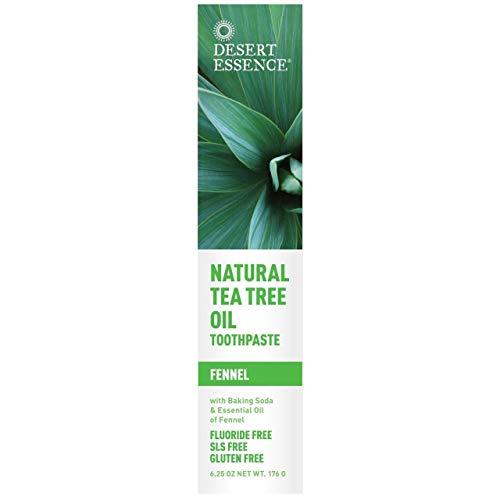 (2 Pack) - Desert Essence - Tea Tree Toothpaste Fennel | 185ml | 2 Pack Bundle