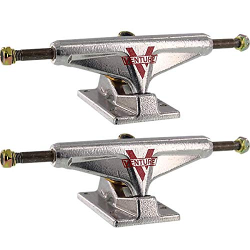 Venture Polished Low Skateboard Trucks - 5.25' Hanger 8' Axle (Set of 2)