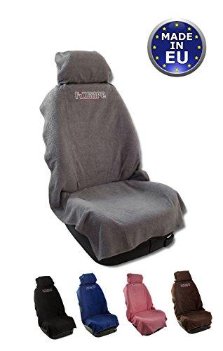 fixcape Autositzbezüge universal als Überwurf aus Baumwolle, Autositzbezug Schonbezug Sitzbezug für das Auto, Sitzbezüge Autositz, Werkstattschonbezug Vordersitze, Grau