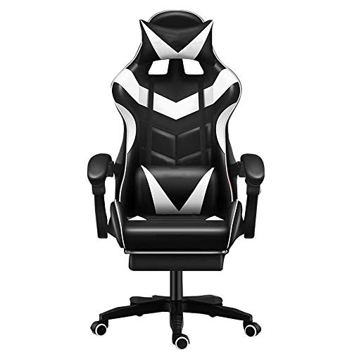 Gaming/Racing Style Adjustable Office Chair with Removable Headrest,High Back Cushion,Lumbar...