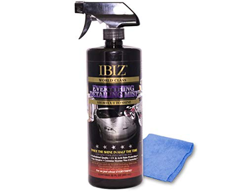 IBIZ Quick Detailing Mist. Instant Car Detailing Mist, Car Detailing Spray, Car Wax Spray, Instant Clean Car.