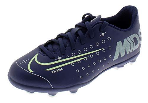 Nike Unisex-Kinder Jr Vapor 13 Club MDS Fg/mg Fußballschuhe, Mehrfarbig (Blue Void/Barely Volt/White/Black 401), 36 EU