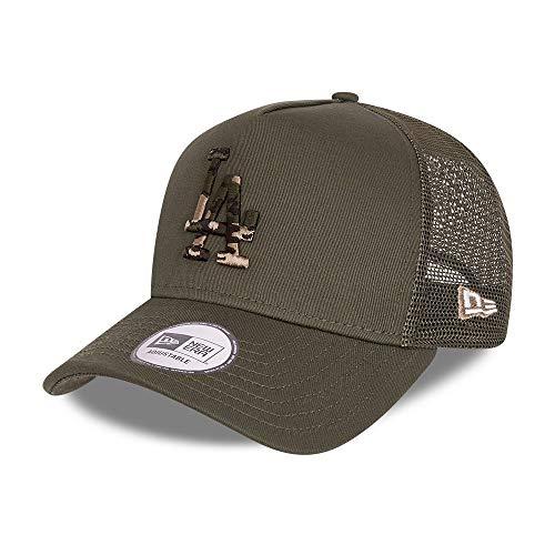 New Era Los Angeles Dodgers Cap Trucker Kappe Camouflage Infill Basecap MLB Baseball Grün - One-Size