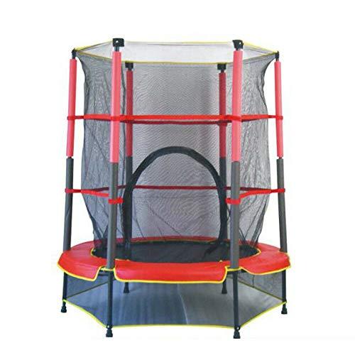 Cama elástica para niños Kaibrite mini trampolín de fitness interior para saltar, fitness, jardín con red de seguridad, 50 kg