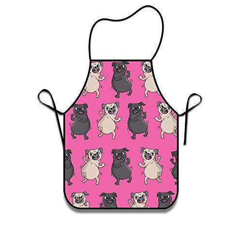 Pag Crane Delantal para Cocina Perros Divertidos Barbacoa Barbacoa Cocina Chef Camarera Gran Regalo para Esposa Damas Hombres Novio