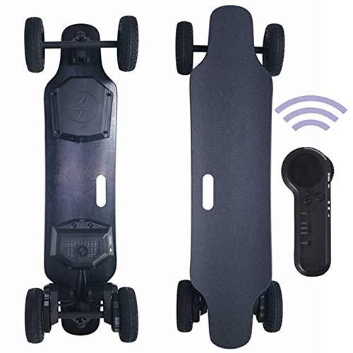 FGKING Elektrisches Skateboard elektrisches Offroad Skateboard Elektrisches Longboard 35km/h, 15 Meilen Reichweite, Dual 1000 W Motoren, 30% Kletterkapazität, Longboard mit Fernbedienung
