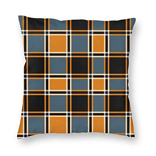 Lawenp Throw Pillow Cover Bonfire Nights Tartan Home Decor Funda de Almohada Funda de Almohada Cuadrada Funda de cojín para sofá Cama