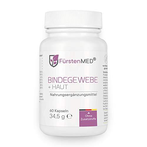 FürstenMED® Bindegewebe Kapseln + Straffe Haut - Anti Cellulite Orangenhaut - Hochdosiert mit OPC, Beta Carotin, L-Lysin, L-Prolin, Biotin uvm. Vegan & Ohne Zusätze