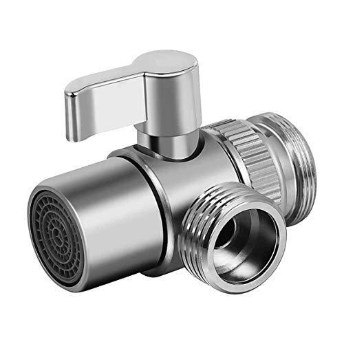 Yardwe 3-Wege-Duscharm-Umschaltventil Universal-Badduschsystem Ersatzteil/Messing für Handbrause Chrom