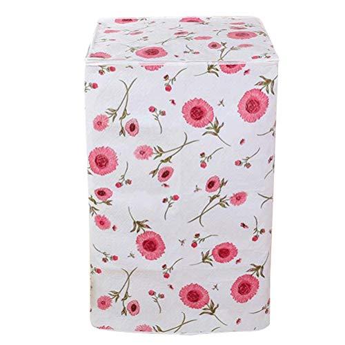 VOSAREA Waschmaschine Abdeckung Blumen Mustern Wasserdicht Staubdicht Deckel für Waschmaschine Frontlader Wärmepumpentrockner