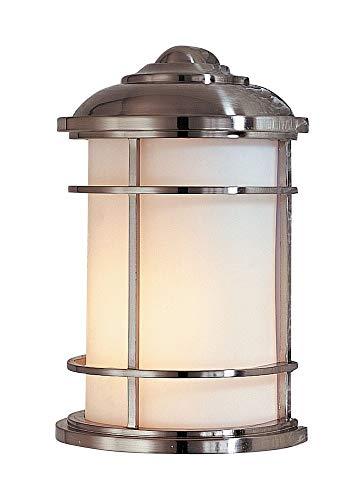 "Feiss OL2203BS Lighthouse Outdoor Lighting Wall Pocket Sconce, Satin Nickel, 1-Light (7""W x 11""H) 60watts"