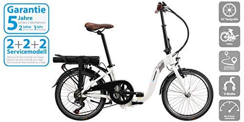 Blaupunkt Clara 390   Falt-E-Bike, Tiefeinstieg, E-Bike, StVZO, 20 Zoll, leicht