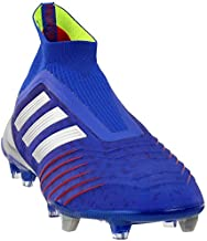 adidas Predator 19+ Soccer Cleats (Men's) (10.5, Blue/Silver)