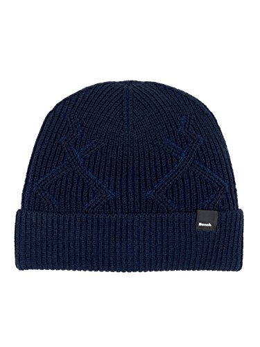 Bench Herren Fishermans Interest Rib Beanie Strickmütze, Blau (Dark Navy Blue Ny031), One Size